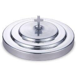 Polished Aluminum Communion Tray Cover - Silver Tone