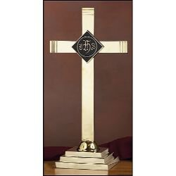 Altar Cross with IHS Emblem