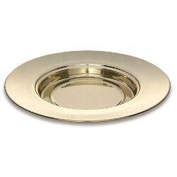 Solid Brass Bread Plate