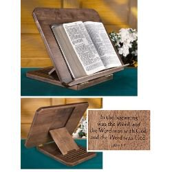 Bible Stand with Silk-Screened Verse