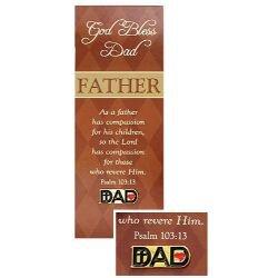 Dad Pin with Bookmark Set - 12/pk