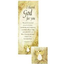 Appreciation Angel Dove Pin & Bookmark Set - 12/pk