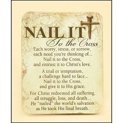 Nail It to the Cross Magnet - 24/pk