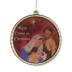 Keep Christ in Christmas Glass Ornament