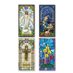 Stained Glass Series Banners - Set of 4