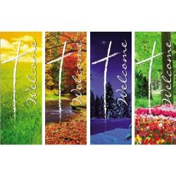 Seasonal Welcome Series X-Stand Banners - Set of 4