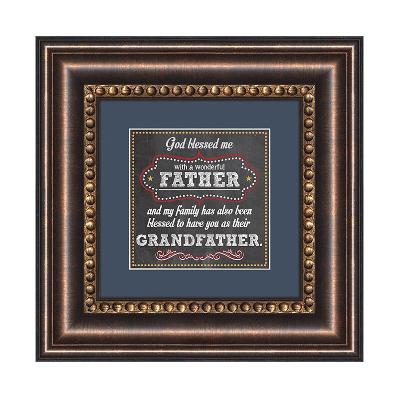 Father and Grandfather Framed Tabletop