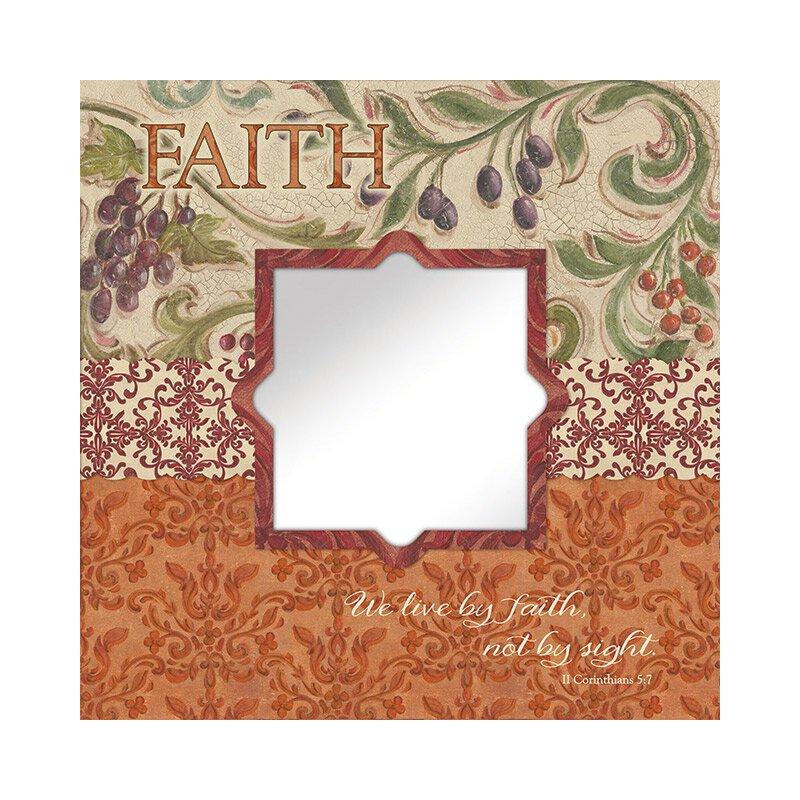 Faith (II Corinthians 5:7) Mirror Wall Art