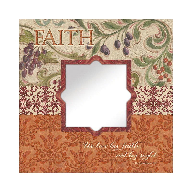 Faith (II Corinthians 5:7) Mirror Wall Art