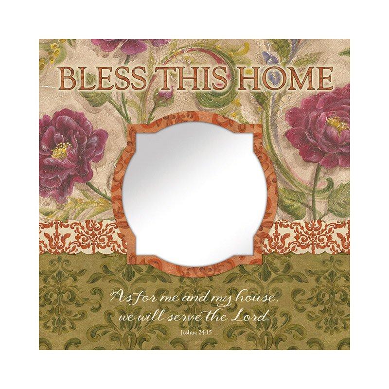 Bless This Home (Joshua 24:15) Mirror Wall Art
