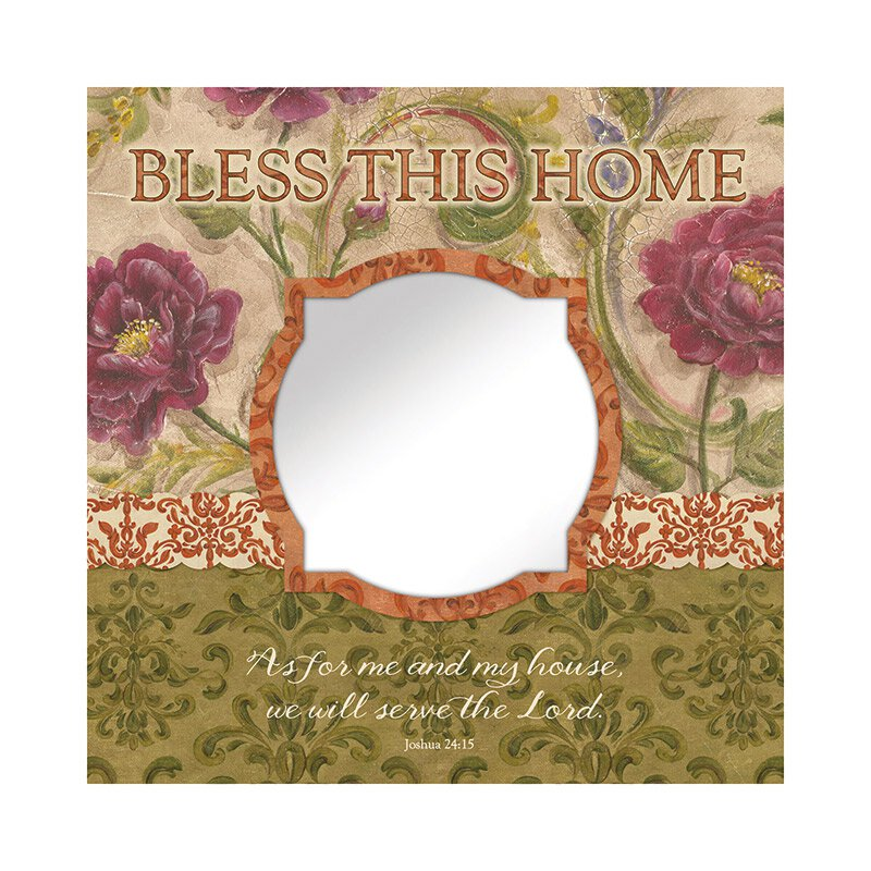 Bless This Home (Joshua 24:15) Mirror Wall Art
