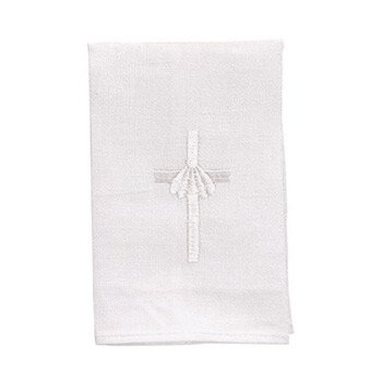 Keepsake Baptismal Napkin with Cross and Shell - 4/pk