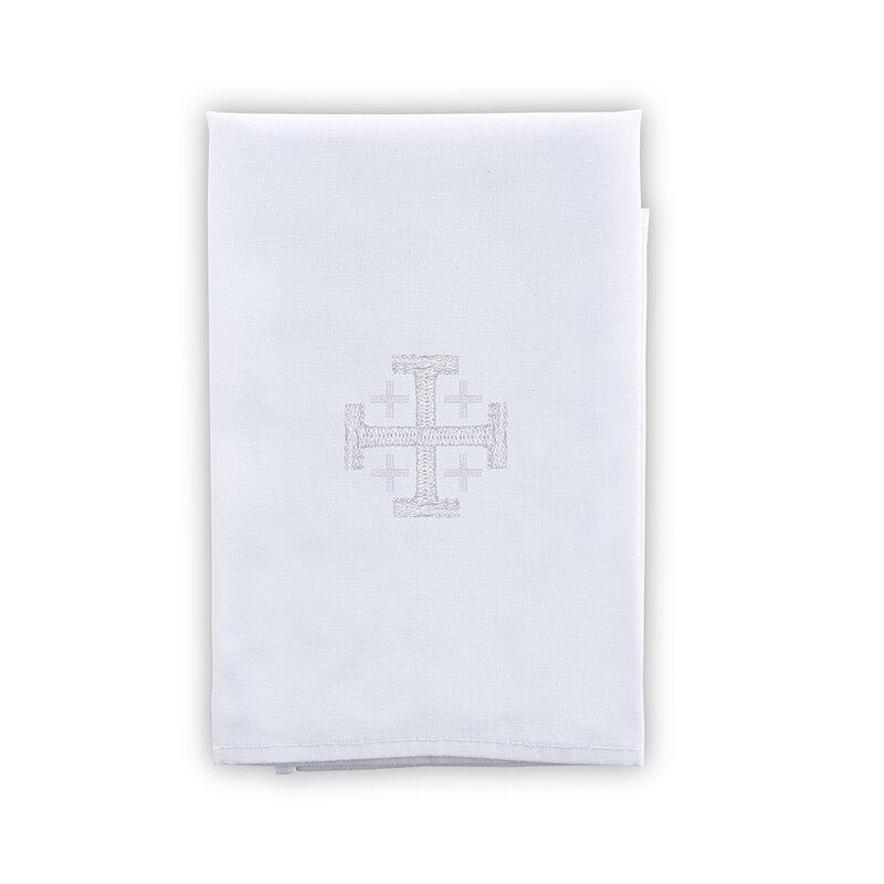 Poly/Cotton Blend Purificator with Jerusalem Cross - 4/pk