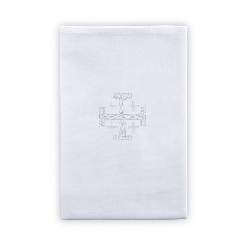 Poly/Cotton Blend Lavabo Towel with Jerusalem Cross - 4/pk