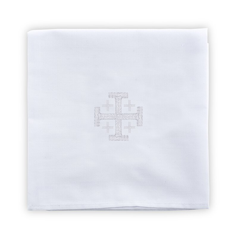 100% Linen Corporal with Jerusalem Cross - 4/pk