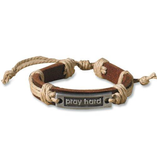 Leather Bracelet - Pray Hard