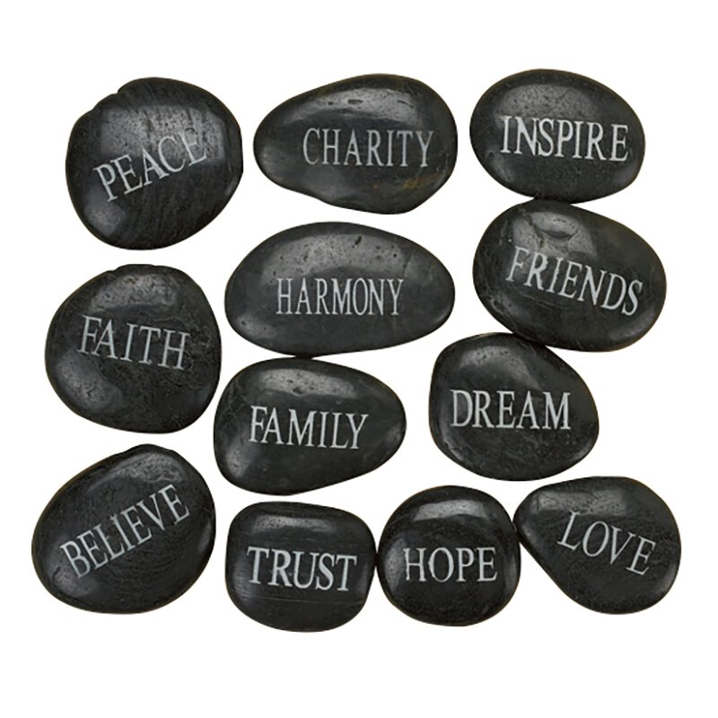 Inspirational Stone Assortment - 12/pk