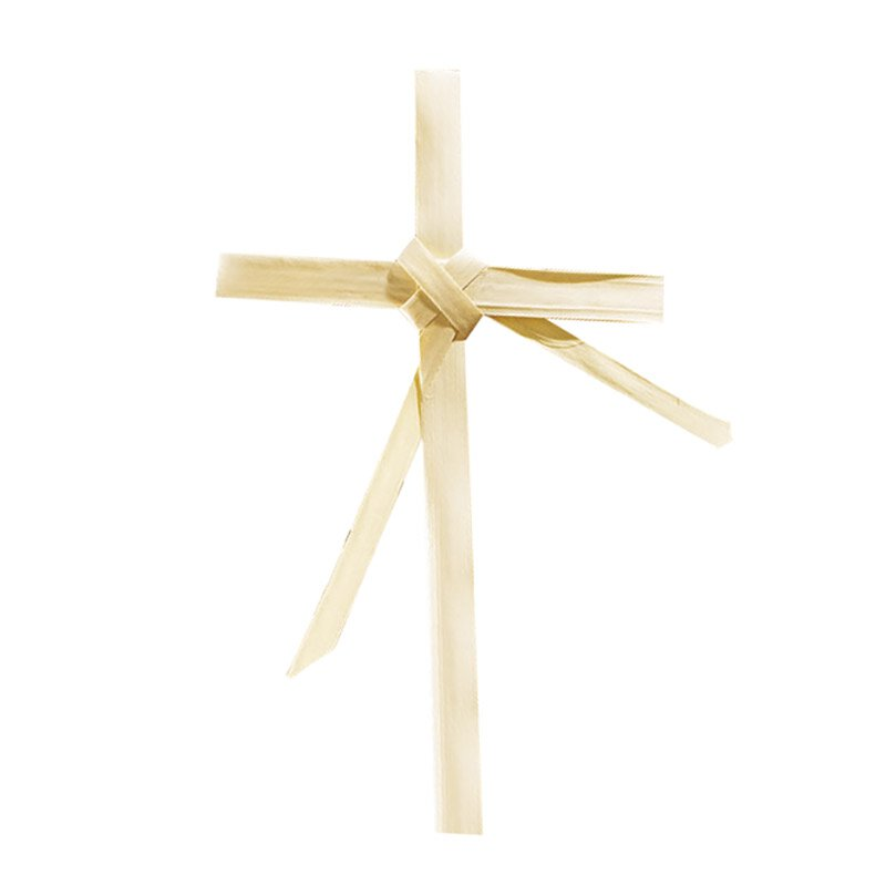 Palm Cross with Center Frond - 50/pk