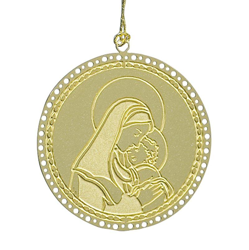 Madonna and Child Brass Ornament