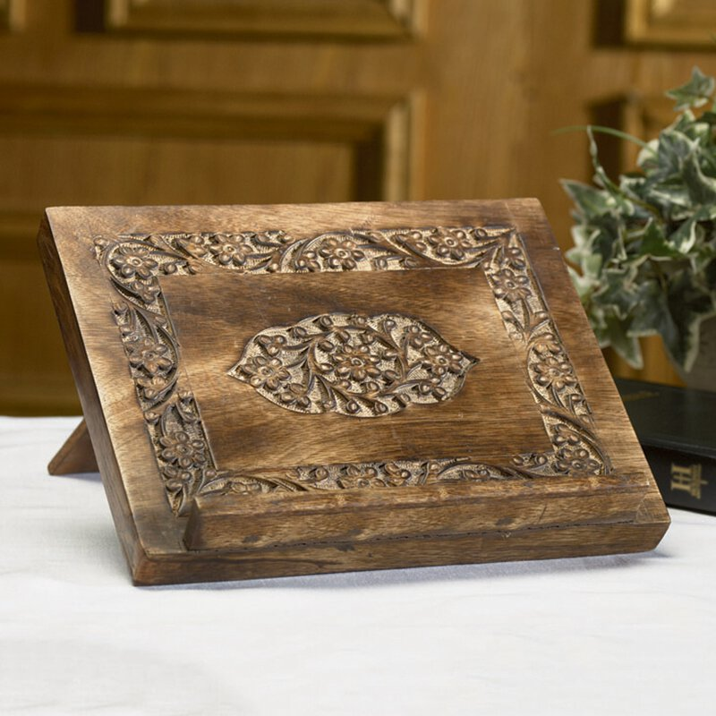 Carved Bible Stand