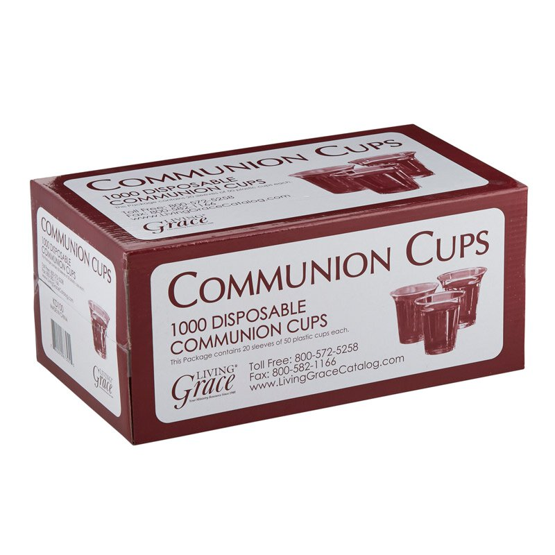 Living Grace® Recyclable Communion Cup - 1000/bx - Single Box