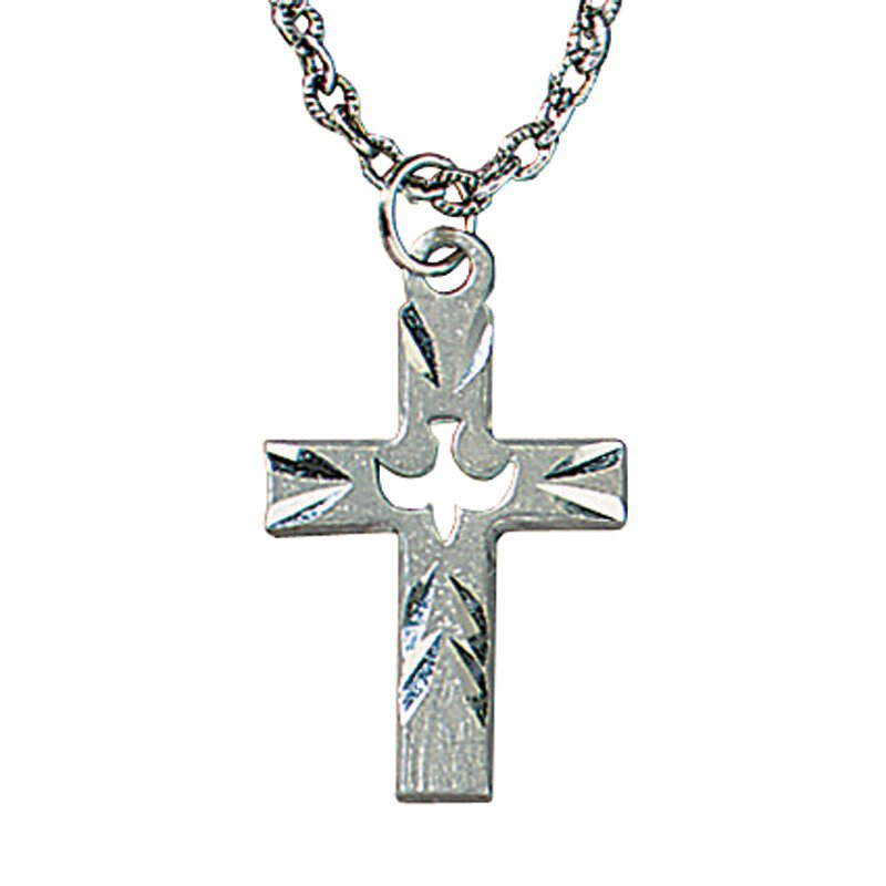 Dove Cross Necklace - 3/pk
