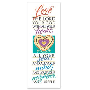 Famous Verse Series X-Stand Banner - Love the Lord Your God