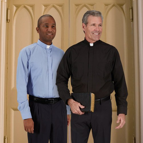 Classic Comfort Long Sleeve Clergy Shirt - French Cuff