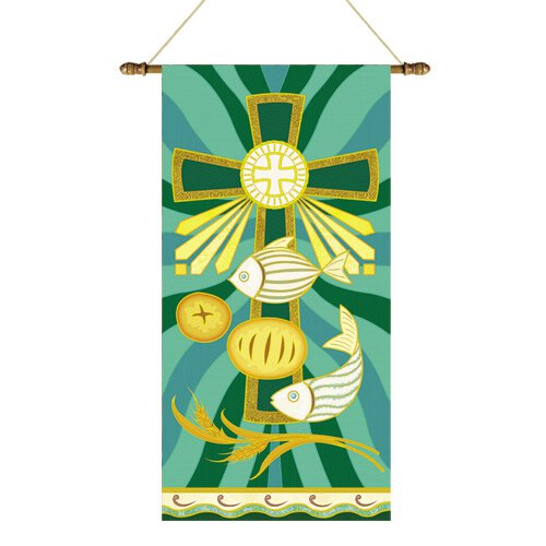 Tapestry Series Banner - Loaves and Fishes