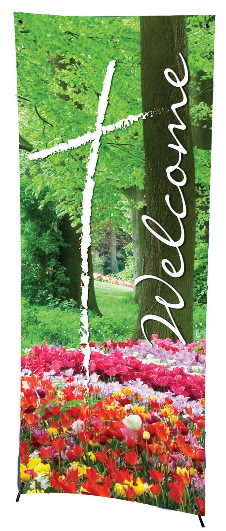 Seasonal Welcome Series X-Stand Banner - Spring