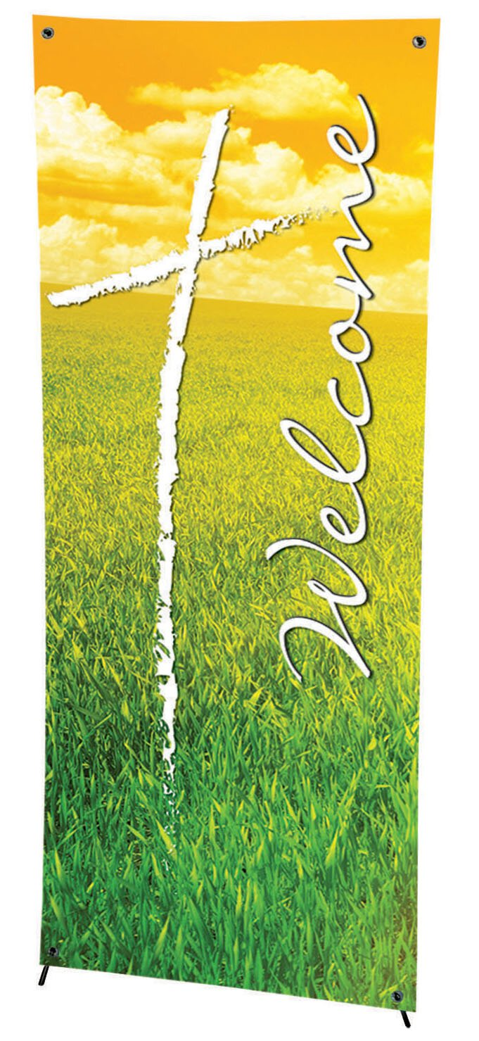 Seasonal Welcome Series X-Stand Banner - Summer