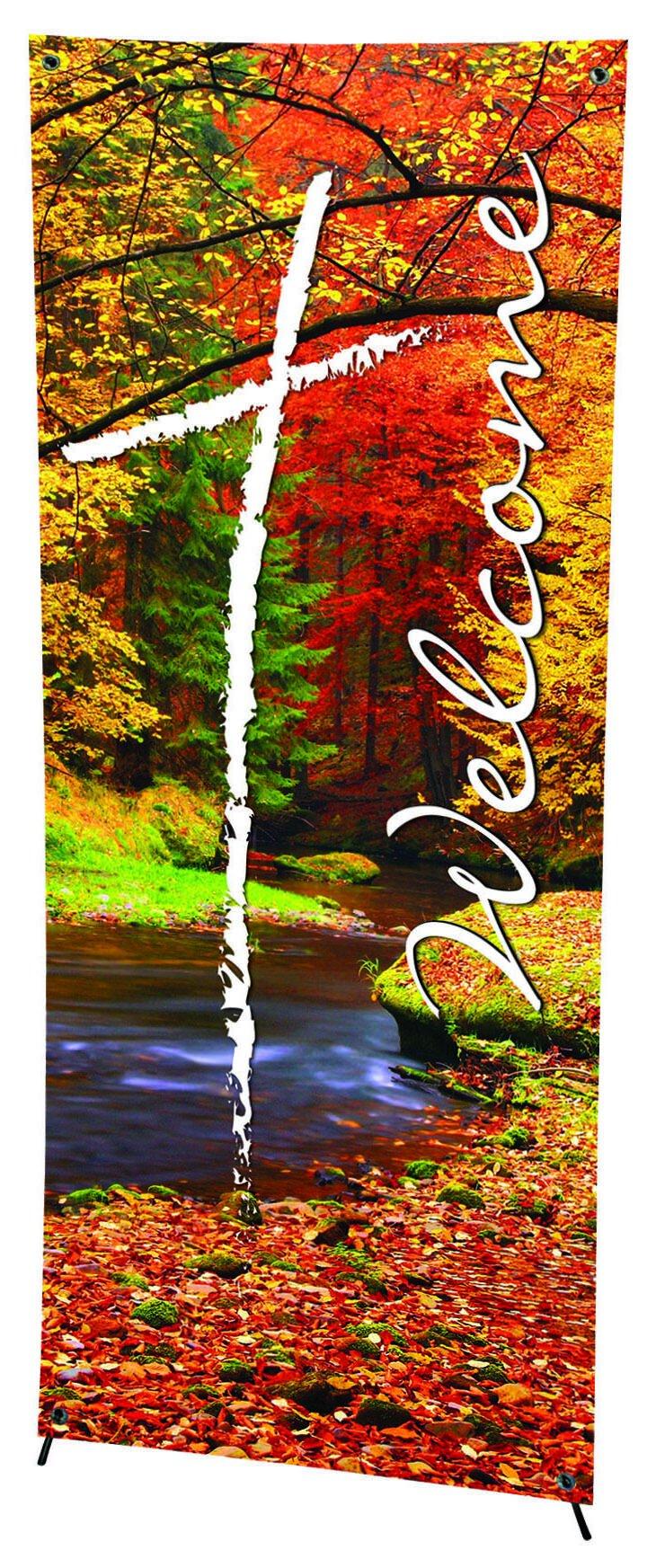 Seasonal Welcome Series X-Stand Banner - Fall