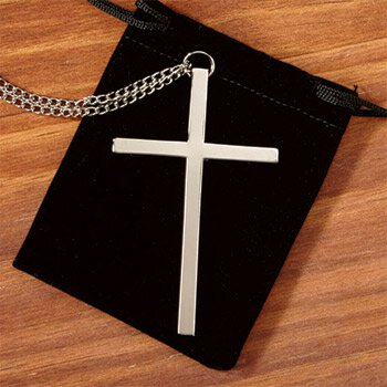 Silver Clergy Cross - 3/pk