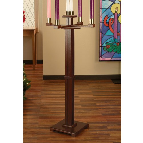 Church Advent Candlestick - Walnut Stain