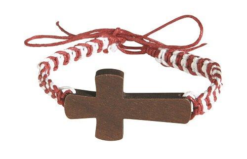 Colorful Braided Wood Cross Bracelet Assortment