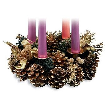 Advent Wreath with Ribbon