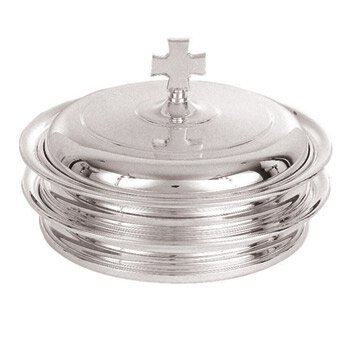 Silver Plated Self-Stacking Bread Plate Cover