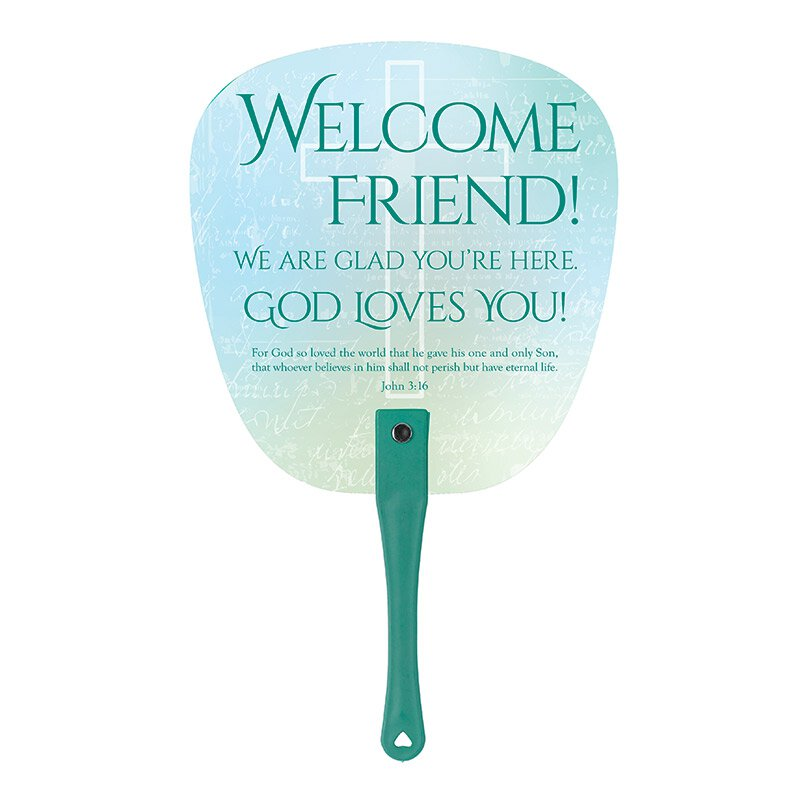 Our Father Welcome Hand Fan - 24/pk