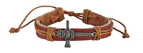 Nails Cross Leather Bracelet -12pk