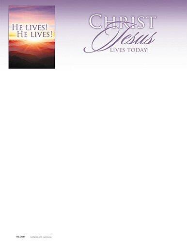 Easter He Lives! Letterhead -100pk