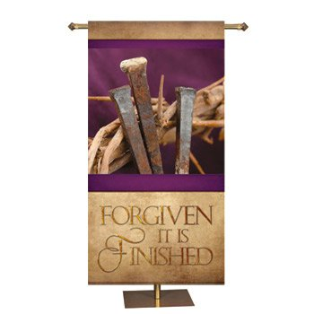 Easter Series Banner - Forgiven (It is Finished)