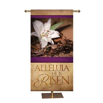 Easter Series Banner - Alleluia (He is Risen)