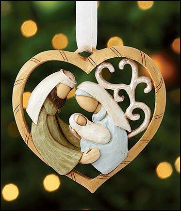 The Heart of Christmas Nativity Heart Ornament - 6/pk