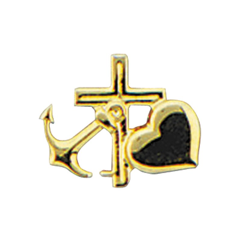 Faith, Hope, Love Lapel Pin - 25/pk