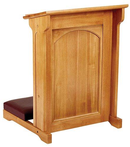 Abbey Collection Padded Kneeler - Medium Oak Stain