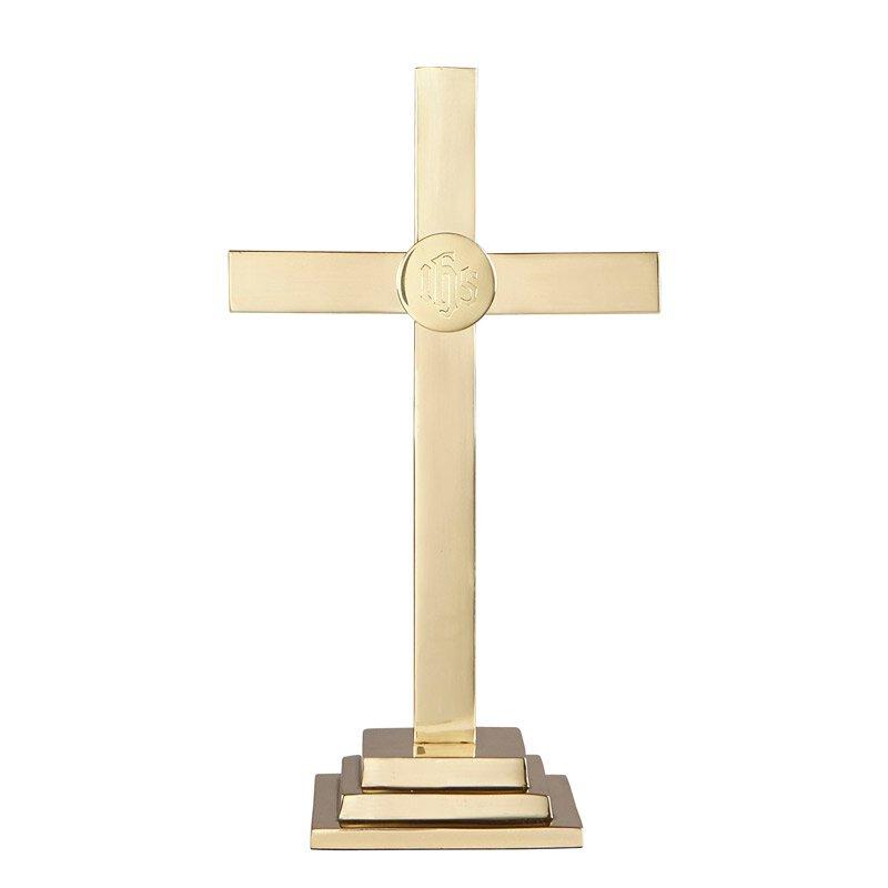 """Altar Cross Brass 24""""H"""