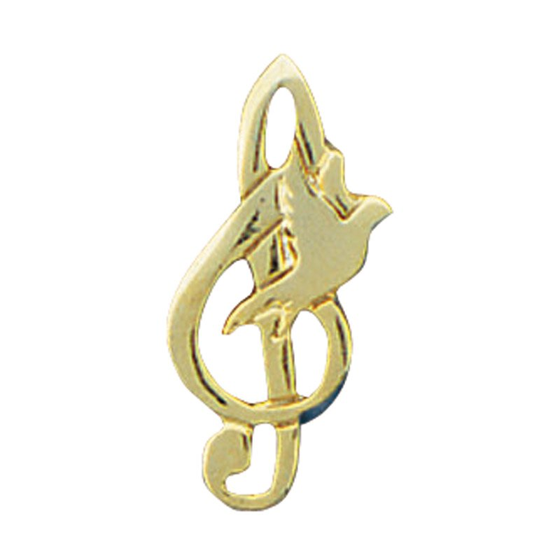 Music Note Dove Lapel Pin - 25/pk