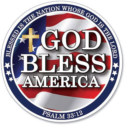 God Bless America Magnet 24pk