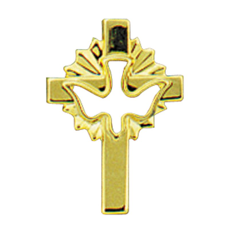 Cross with Dove Lapel Pin - 25/pk