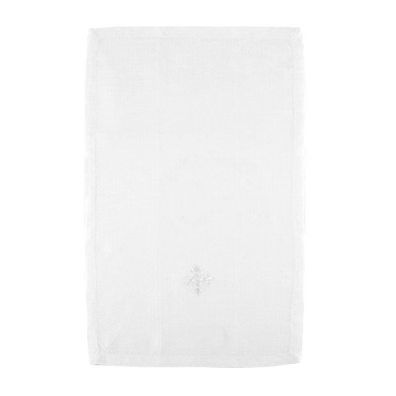100% Linen Purificator with Fleur-de-Lis Cross - 3/pk